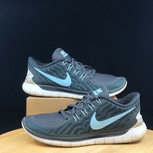 Nike Womens Free 5.0 724383-009 green black Run